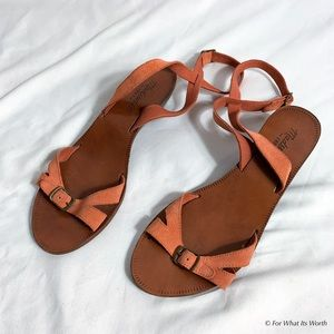 Madewell Suede Strappy Sandals